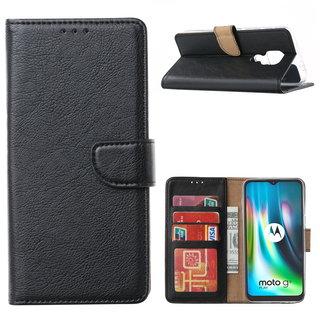 Bookcase Motorola Moto G9 Play hoesje - Zwart