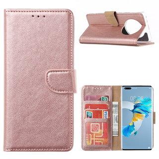 Bookcase Huawei Mate 40 Pro+ hoesje - Rosé Goud