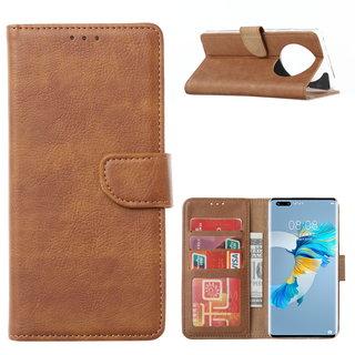 Bookcase Huawei Mate 40 Pro+ hoesje - Bruin