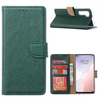 Bookcase Huawei Nova 7 SE hoesje - Smaragdgroen