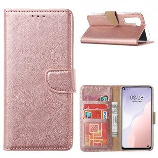 Bookcase Huawei Nova 7 SE hoesje - Rosé Goud