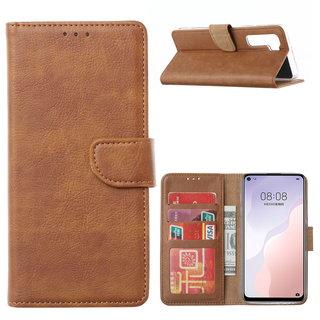 Bookcase Huawei Nova 7 SE hoesje - Bruin