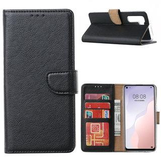 Bookcase Huawei Nova 7 SE hoesje - Zwart