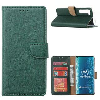 Bookcase Motorola Edge hoesje - Smaragdgroen