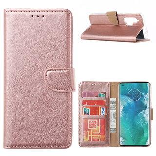 Bookcase Motorola Edge Plus hoesje - Rosé Goud