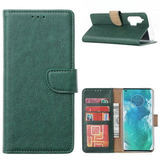 Bookcase Motorola Edge Plus hoesje - Smaragdgroen