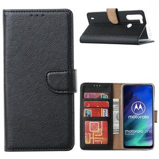Bookcase Motorola One Fusion hoesje - Zwart