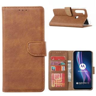 Bookcase Motorola One Fusion Plus hoesje - Bruin