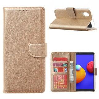 Bookcase Samsung Galaxy A01 Core hoesje - Goud