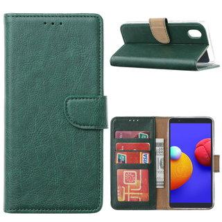 Bookcase Samsung Galaxy A01 Core hoesje - Smaragdgroen