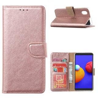 Bookcase Samsung Galaxy A01 Core hoesje - Rosé Goud