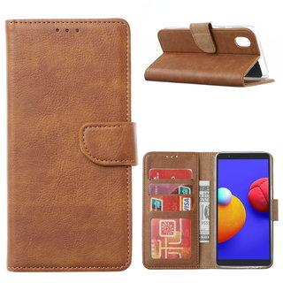 Bookcase Samsung Galaxy A01 Core hoesje - Bruin