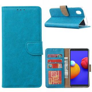Bookcase Samsung Galaxy A01 Core hoesje - Blauw
