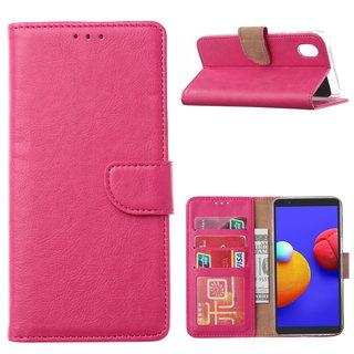 Bookcase Samsung Galaxy A01 Core hoesje - Roze