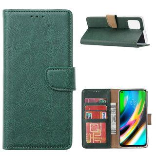 Bookcase Motorola Moto G9 Plus hoesje - Smaragdgroen