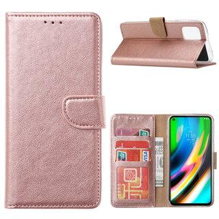Bookcase Motorola Moto G9 Plus hoesje - Rosé Goud
