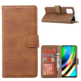Bookcase Motorola Moto G9 Plus hoesje - Bruin