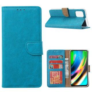 Bookcase Motorola Moto G9 Plus hoesje - Blauw