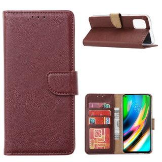 Bookcase Motorola Moto G9 Plus hoesje - Bordeauxrood