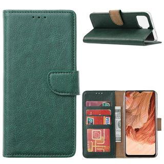 Bookcase Oppo F17 hoesje - Smaragdgroen