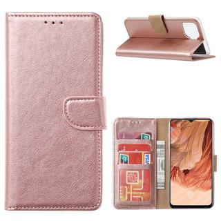 Bookcase Oppo F17 hoesje - Rosé Goud