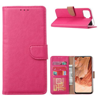 Bookcase Oppo F17 hoesje - Roze