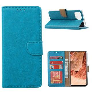 Bookcase Oppo F17 hoesje - Blauw