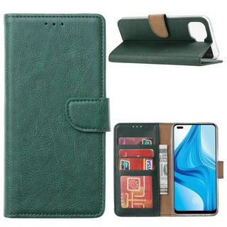Bookcase Oppo F17 Pro hoesje - Smaragdgroen