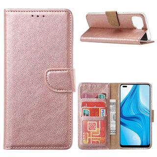 Bookcase Oppo F17 Pro hoesje - Rosé Goud