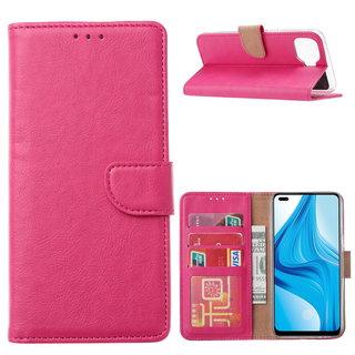 Bookcase Oppo F17 Pro hoesje - Roze