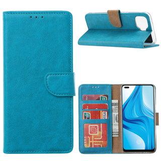 Bookcase Oppo F17 Pro hoesje - Blauw