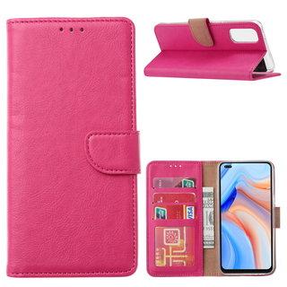 Bookcase Oppo Reno 4 hoesje - Roze