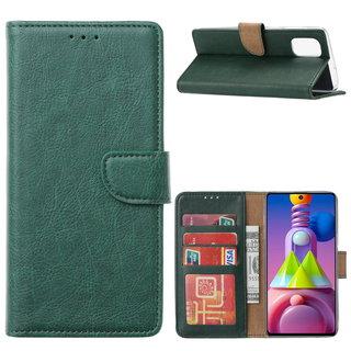 Bookcase Samsung Galaxy M51 hoesje - Smaragdgroen