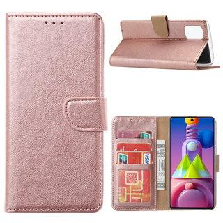 Bookcase Samsung Galaxy M51 hoesje - Rosé Goud