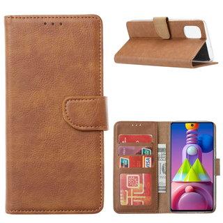 Bookcase Samsung Galaxy M51 hoesje - Bruin