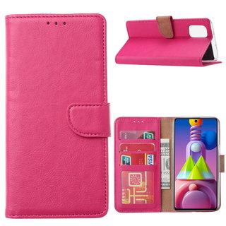 Bookcase Samsung Galaxy M51 hoesje - Roze
