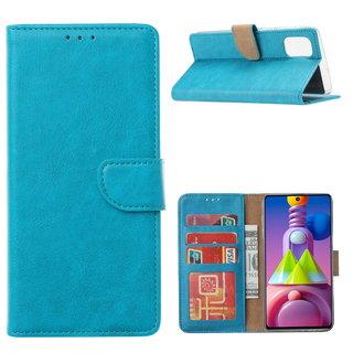 Bookcase Samsung Galaxy M51 hoesje - Blauw