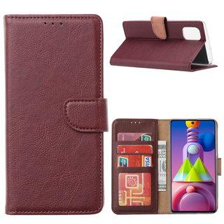 Bookcase Samsung Galaxy M51 hoesje - Bordeauxrood