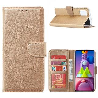 Bookcase Samsung Galaxy M51 hoesje - Goud