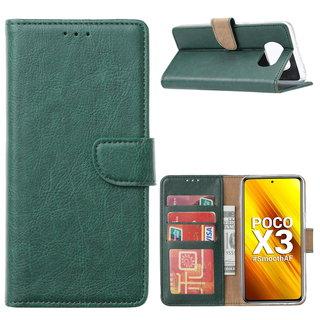 Bookcase Xiaomi Poco X3 Hoesje - Smaragdgroen