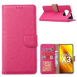 Bookcase Xiaomi Poco X3 Hoesje - Roze