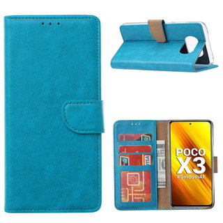 Bookcase Xiaomi Poco X3 Hoesje - Blauw