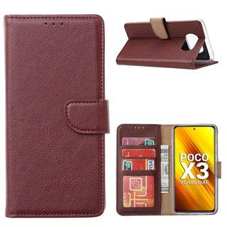 Bookcase Xiaomi Poco X3 Hoesje - Bordeauxrood