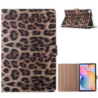 Panter print standaard hoes voor de Samsung Galaxy Tab A7 / A7LTE - T500 / T505