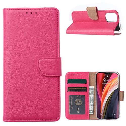 Bookcase Apple iPhone 12 Mini hoesje - Roze