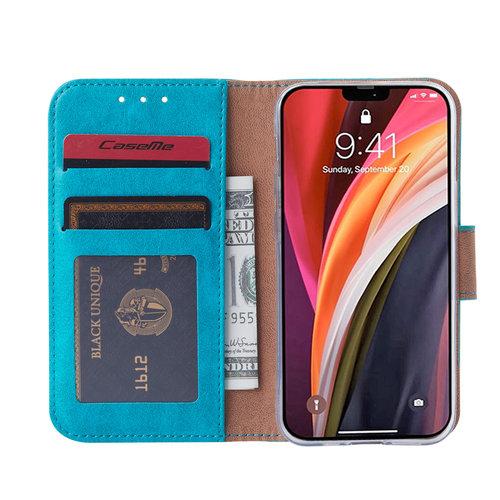 Bookcase Apple iPhone 12 Mini hoesje - Blauw
