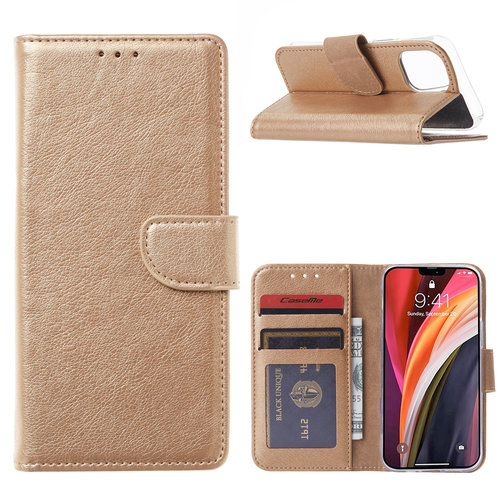 Bookcase Apple iPhone 12 Mini hoesje - Goud