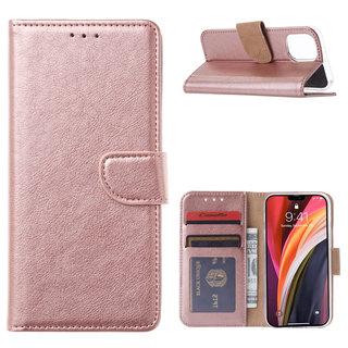 Bookcase Apple iPhone 12 Mini hoesje - Rosé Goud
