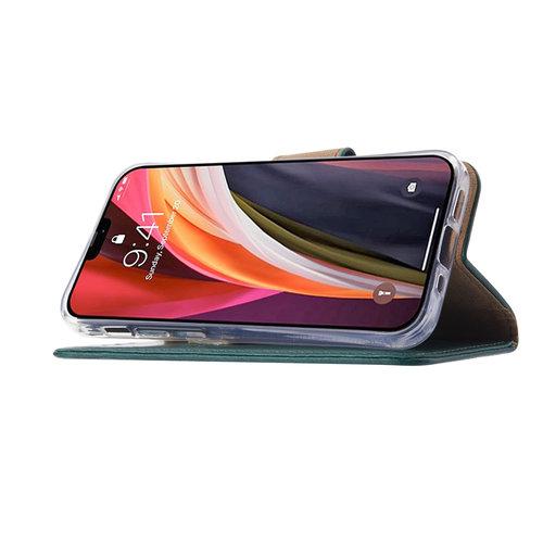 Bookcase Apple iPhone 12 Mini hoesje - Smaragdgroen