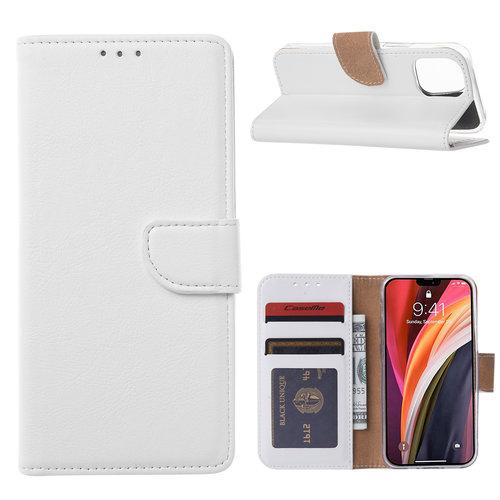 Bookcase Apple iPhone 12 Mini hoesje - Wit